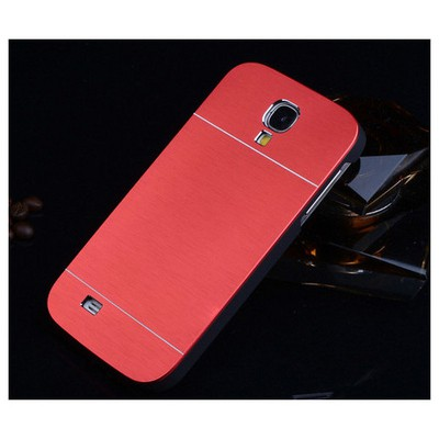 Microsonic Samsung Galaxy S4 Kılıf Hybrid Metal Kırmızı Cep Telefonu Kılıfı
