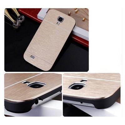 Microsonic Samsung Galaxy S4 Kılıf Hybrid Metal Gold Cep Telefonu Kılıfı