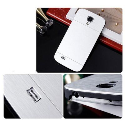 Microsonic Samsung Galaxy S4 Kılıf Hybrid Metal Gümüş Cep Telefonu Kılıfı