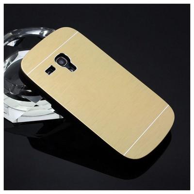 Microsonic Samsung Galaxy S3 Mini Kılıf Hybrid Metal Gold Cep Telefonu Kılıfı
