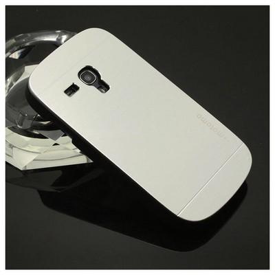 Microsonic Samsung Galaxy S3 Mini Kılıf Hybrid Metal Gümüş Cep Telefonu Kılıfı