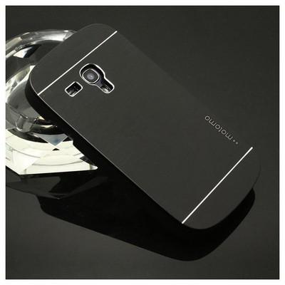 Microsonic Samsung Galaxy S3 Mini Kılıf Hybrid Metal Siyah Cep Telefonu Kılıfı