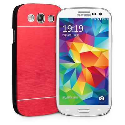 Microsonic Samsung Galaxy S3 Kılıf Hybrid Metal Kırmızı Cep Telefonu Kılıfı