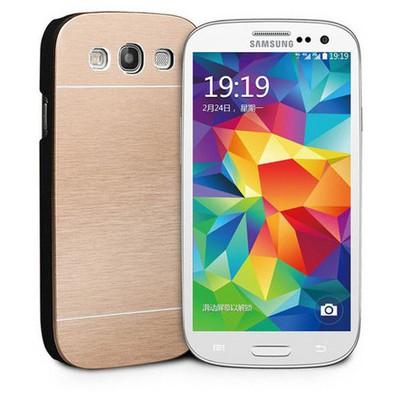 Microsonic Samsung Galaxy S3 Kılıf Hybrid Metal Gold Cep Telefonu Kılıfı
