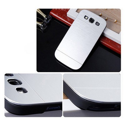 Microsonic Samsung Galaxy S3 Kılıf Hybrid Metal Gümüş Cep Telefonu Kılıfı