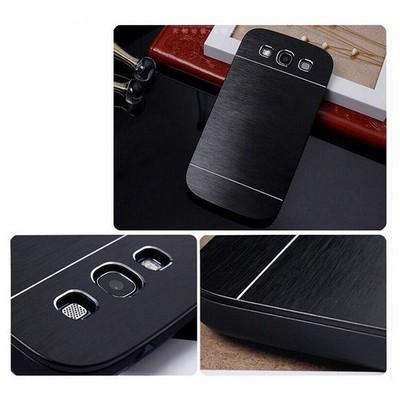 Microsonic Samsung Galaxy S3 Kılıf Hybrid Metal Siyah Cep Telefonu Kılıfı
