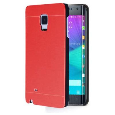 Microsonic Samsung Galaxy Note Edge Kılıf Hybrid Metal Kırmızı Cep Telefonu Kılıfı