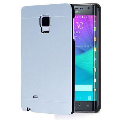 Microsonic Samsung Galaxy Note Edge Kılıf Hybrid Metal Gümüş Cep Telefonu Kılıfı