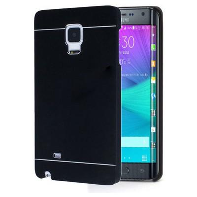 Microsonic Samsung Galaxy Note Edge Kılıf Hybrid Metal Siyah Cep Telefonu Kılıfı