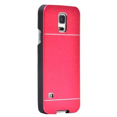Microsonic Samsung Galaxy Note 4 Kılıf Hybrid Metal Kırmızı Cep Telefonu Kılıfı