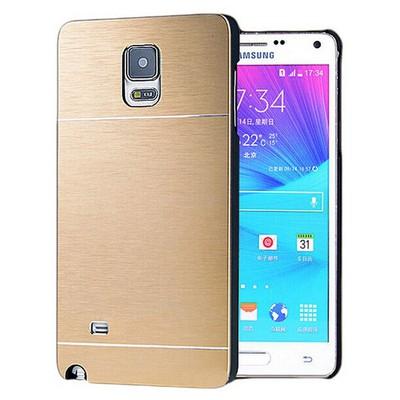 Microsonic Samsung Galaxy Note 4 Kılıf Hybrid Metal Gold Cep Telefonu Kılıfı