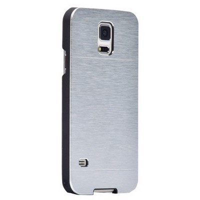 Microsonic Samsung Galaxy Note 4 Kılıf Hybrid Metal Gümüş Cep Telefonu Kılıfı