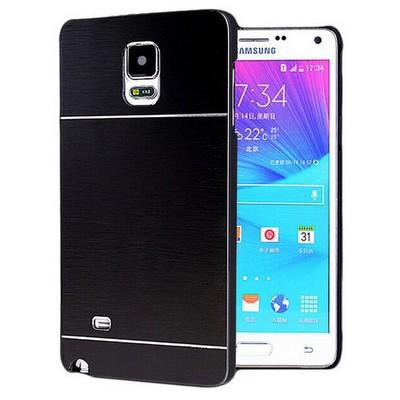 Microsonic Samsung Galaxy Note 4 Kılıf Hybrid Metal Siyah Cep Telefonu Kılıfı