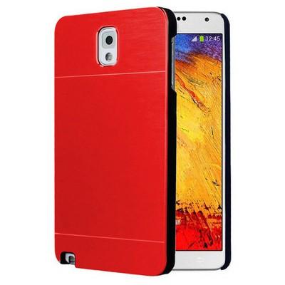 Microsonic Samsung Galaxy Note 3 Kılıf Hybrid Metal Kırmızı Cep Telefonu Kılıfı