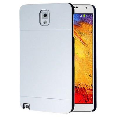 Microsonic Samsung Galaxy Note 3 Kılıf Hybrid Metal Gümüş Cep Telefonu Kılıfı