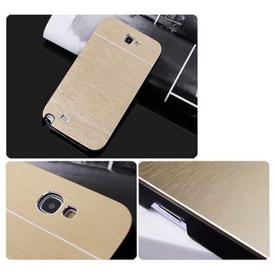 Microsonic Samsung Galaxy Note 2 Kılıf Hybrid Metal Gold Cep Telefonu Kılıfı