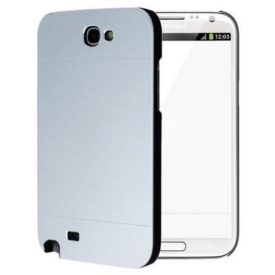 Microsonic Samsung Galaxy Note 2 Kılıf Hybrid Metal Gümüş Cep Telefonu Kılıfı