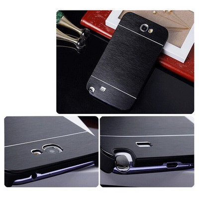 Microsonic Samsung Galaxy Note 2 Kılıf Hybrid Metal Siyah Cep Telefonu Kılıfı