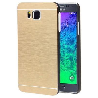 Microsonic Samsung Galaxy Alpha Kılıf Hybrid Metal Gold Cep Telefonu Kılıfı