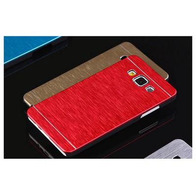 Microsonic Samsung Galaxy E7 Kılıf Hybrid Metal Kırmızı Cep Telefonu Kılıfı