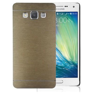 Microsonic Samsung Galaxy E7 Kılıf Hybrid Metal Gold Cep Telefonu Kılıfı