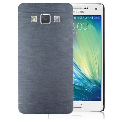 Microsonic Samsung Galaxy E7 Kılıf Hybrid Metal Gümüş Cep Telefonu Kılıfı