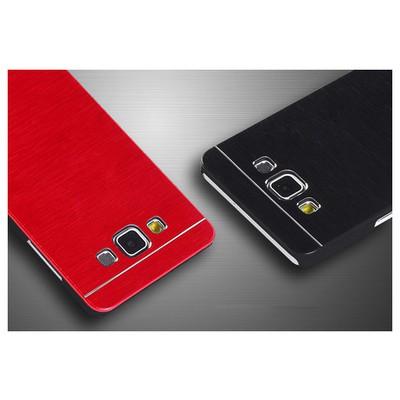 Microsonic Samsung Galaxy E7 Kılıf Hybrid Metal Siyah Cep Telefonu Kılıfı