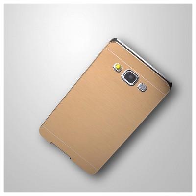 Microsonic Samsung Galaxy E5 Kılıf Hybrid Metal Siyah Cep Telefonu Kılıfı