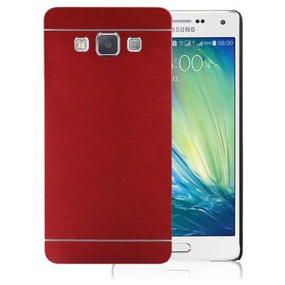 Microsonic Samsung Galaxy A7 Kılıf Hybrid Metal Kırmızı Cep Telefonu Kılıfı