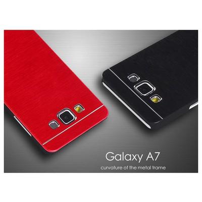 Microsonic Samsung Galaxy A7 Kılıf Hybrid Metal Gümüş Cep Telefonu Kılıfı