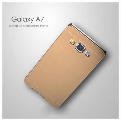 Microsonic Samsung Galaxy A7 Kılıf Hybrid Metal Siyah Cep Telefonu Kılıfı