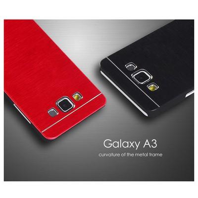 Microsonic Samsung Galaxy A3 Kılıf Hybrid Metal Siyah Cep Telefonu Kılıfı