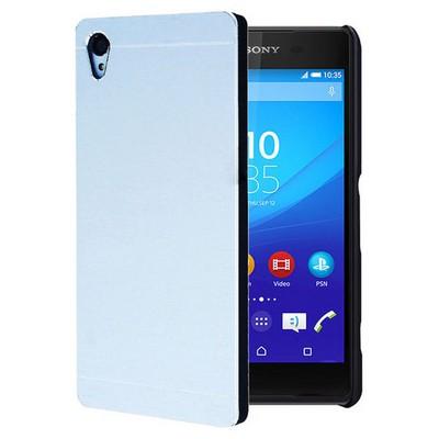 Microsonic Sony Xperia Z3+ Plus Kılıf Hybrid Metal Gümüş Cep Telefonu Kılıfı