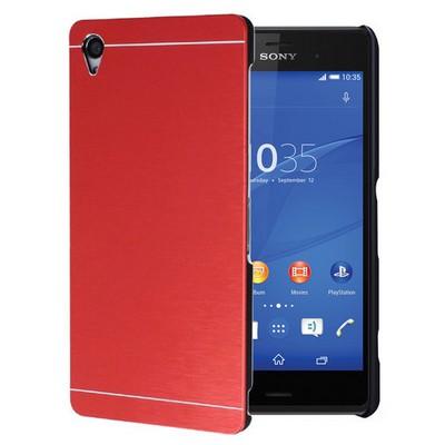 Microsonic Sony Xperia Z3 Kılıf Hybrid Metal Kırmızı Cep Telefonu Kılıfı