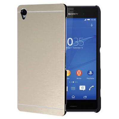 Microsonic Sony Xperia Z3 Kılıf Hybrid Metal Gold Cep Telefonu Kılıfı