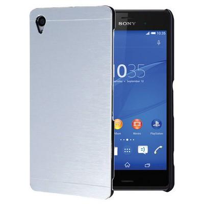 Microsonic Sony Xperia Z3 Kılıf Hybrid Metal Gümüş Cep Telefonu Kılıfı