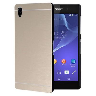 Microsonic Sony Xperia Z2 Kılıf Hybrid Metal Gold Cep Telefonu Kılıfı