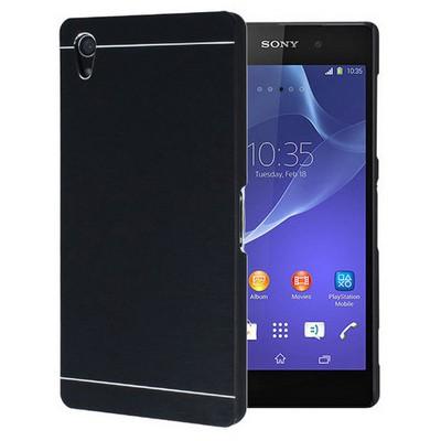 Microsonic Sony Xperia Z2 Kılıf Hybrid Metal Siyah Cep Telefonu Kılıfı