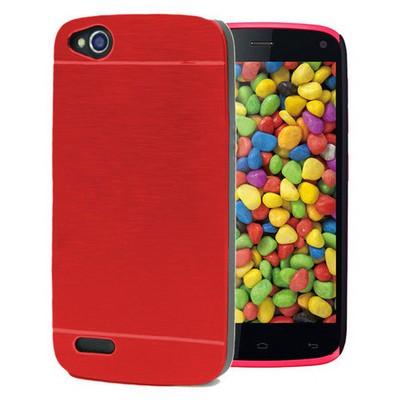 Microsonic General Mobile Discovery Kılıf Hybrid Metal Kırmızı Cep Telefonu Kılıfı