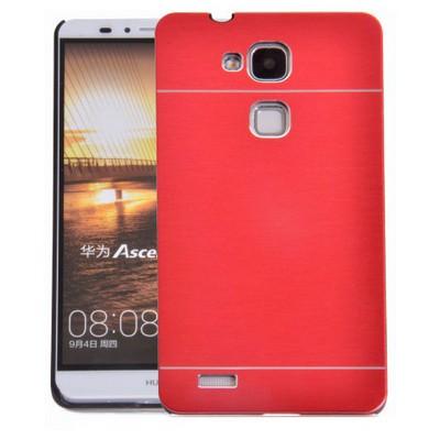 Microsonic Huawei Ascend Mate 7 Kılıf Hybrid Metal Kırmızı Cep Telefonu Kılıfı