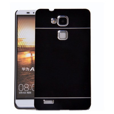 Microsonic Huawei Ascend Mate 7 Kılıf Hybrid Metal Siyah Cep Telefonu Kılıfı