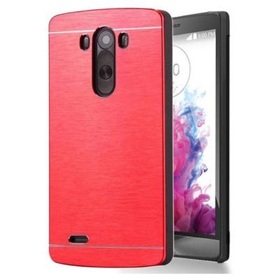 Microsonic Lg G3 Kılıf Hybrid Metal Kırmızı Cep Telefonu Kılıfı