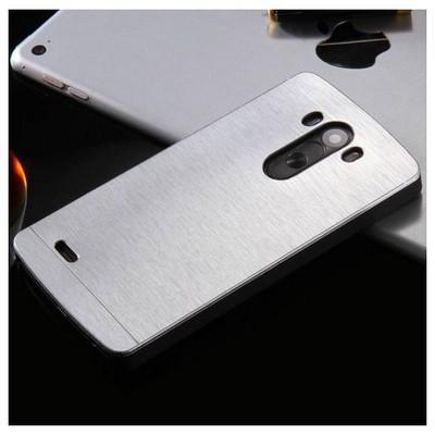 Microsonic Lg G3 Kılıf Hybrid Metal Gümüş Cep Telefonu Kılıfı