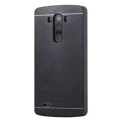 Microsonic Lg G3 Kılıf Hybrid Metal Siyah Cep Telefonu Kılıfı