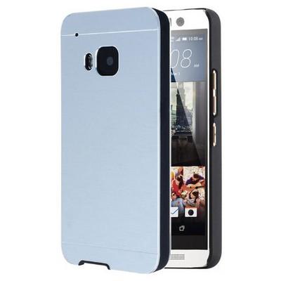 Microsonic Htc One M9 Kılıf Hybrid Metal Gümüş Cep Telefonu Kılıfı