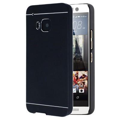 Microsonic Htc One M9 Kılıf Hybrid Metal Siyah Cep Telefonu Kılıfı