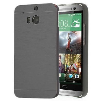 Microsonic Htc One M8 Kılıf Hybrid Metal Siyah Cep Telefonu Kılıfı