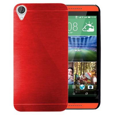 Microsonic Htc Desire 820 Kılıf Hybrid Metal Kırmızı Cep Telefonu Kılıfı