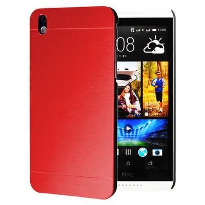 Microsonic Htc Desire 816 Kılıf Hybrid Metal Kırmızı Cep Telefonu Kılıfı