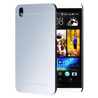 Microsonic Htc Desire 816 Kılıf Hybrid Metal Gümüş Cep Telefonu Kılıfı
